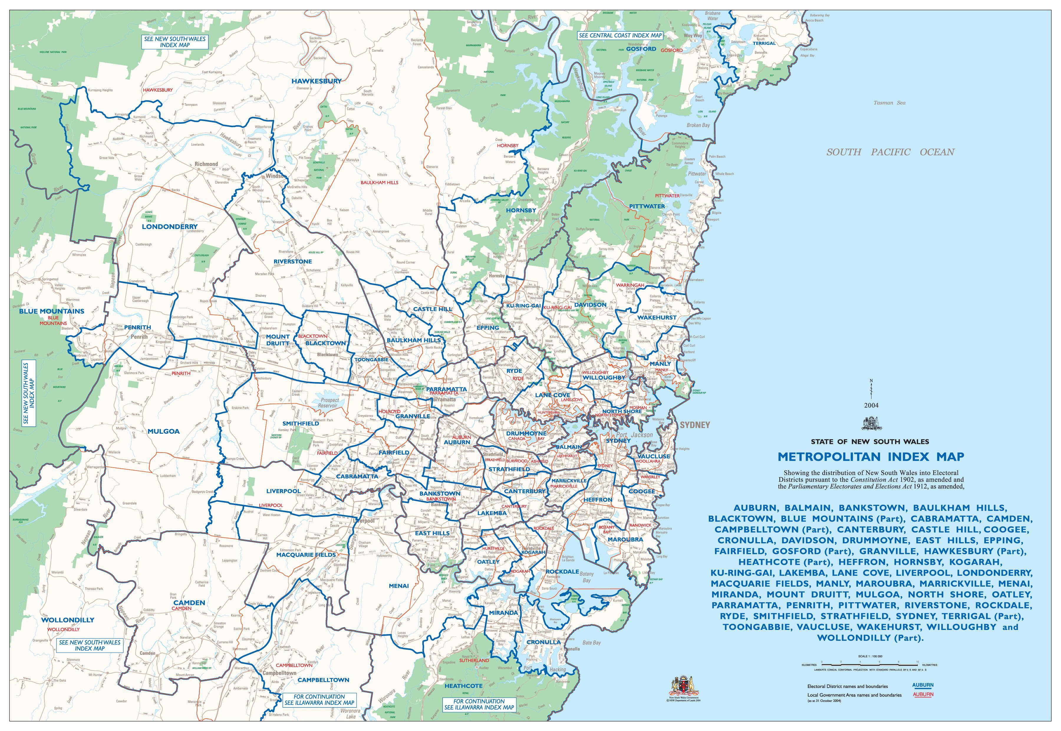 karta över sydney australien Karta över sydney förorter   Sydney karta förorter (Australien) karta över sydney australien