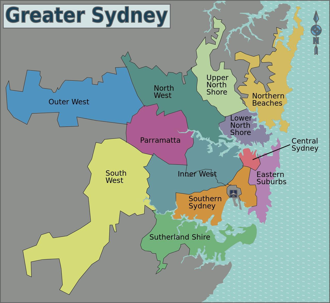 karta över sydney australien Sydney området   karta  Karta över sydney området (Australien) karta över sydney australien
