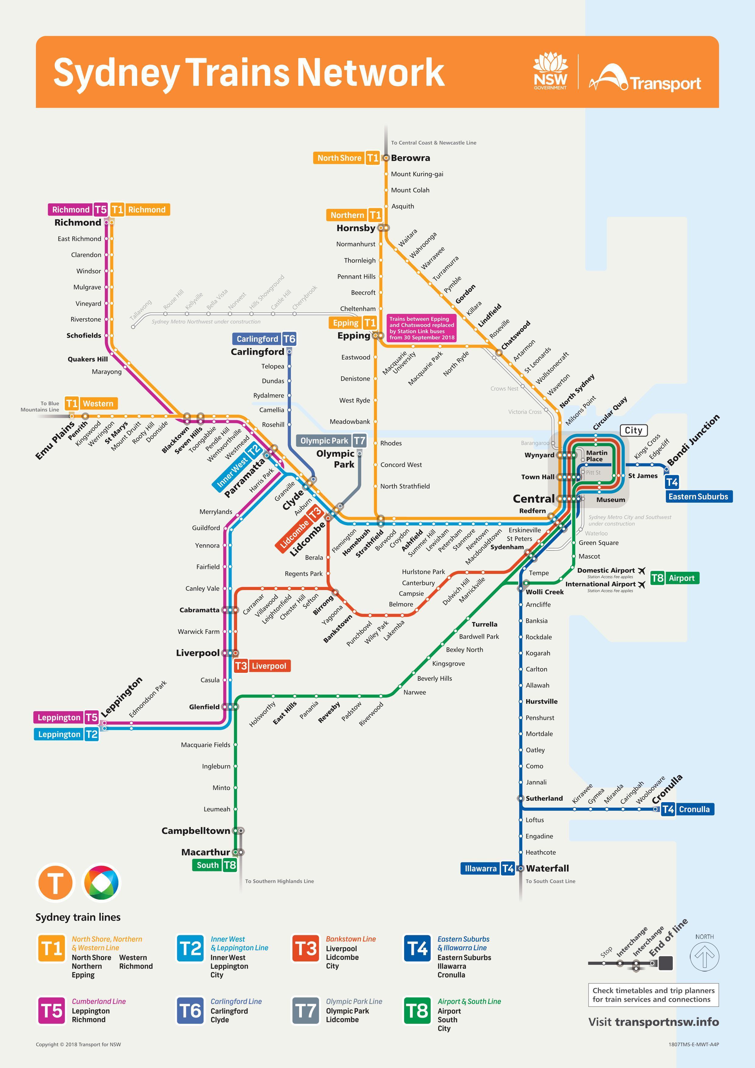 Sydney Tunnelbana Karta Sydney Ror Karta Australien